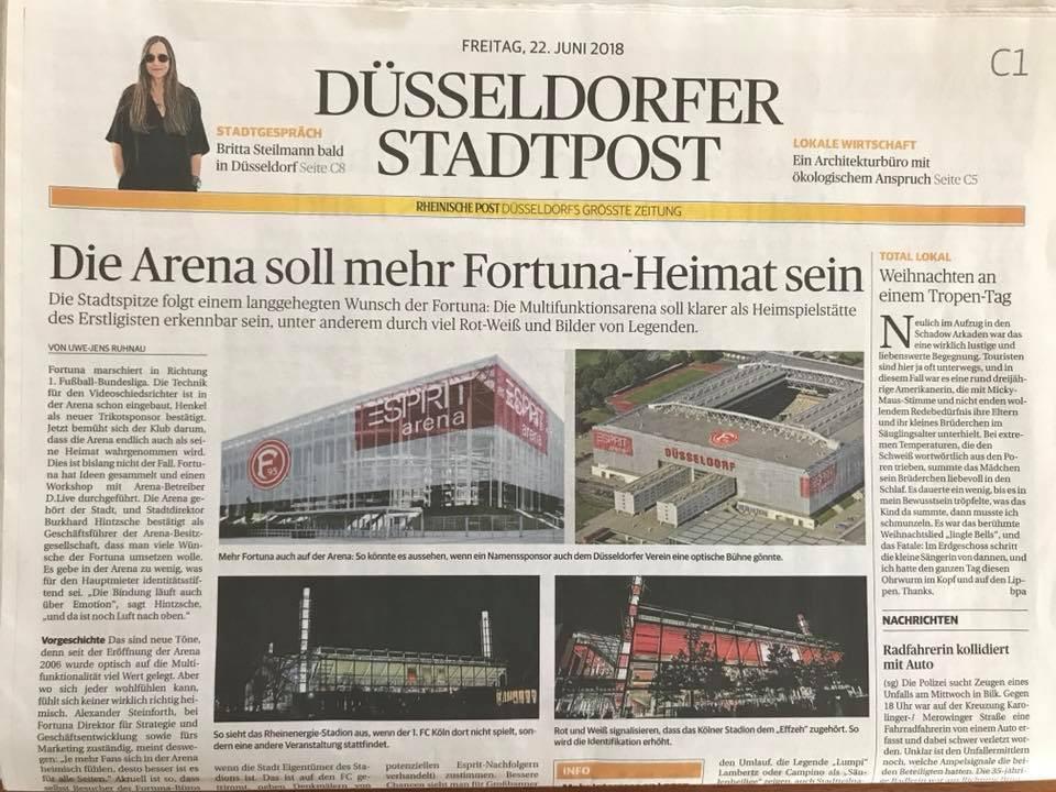 Britta Steilmann in der Rheinische Post und in der Düsseldorfer Stadtpost