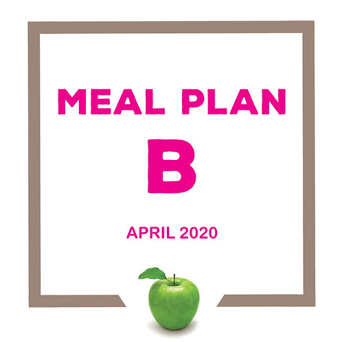 Meal Plan B - April 2020 SJS