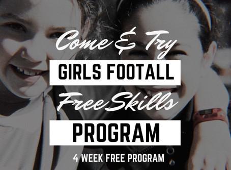 FREE 4 Week Girls Skills Clinic