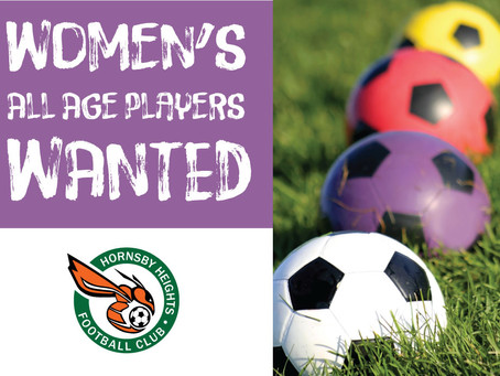 WANTED: Women's All-Age Players