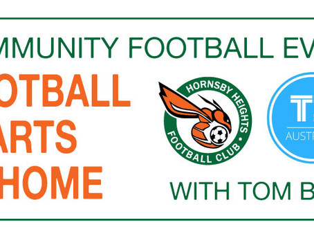 CANCELLED! Event: Football Starts at Home