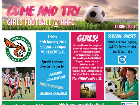 GIRLS FOOTBALL – Come and Try Evening