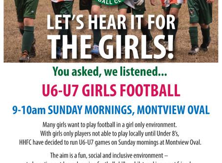 U6-7 Girls Only Football