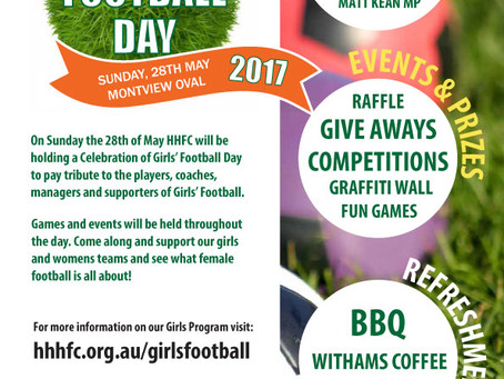 Celebrating Girls Football, Sunday 28th May, Montview Oval