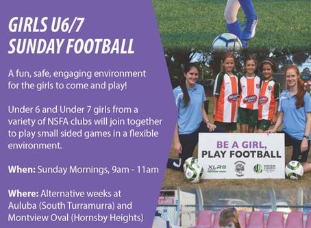 Girls U6/7 Sunday Football