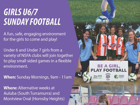 Girls U6/7 Sunday Football