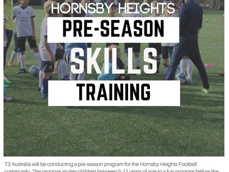 T3 Australia Pre-Season Skills Training