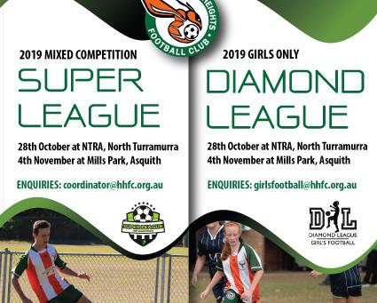 HHFC Super League and Diamond League Trials for 2019