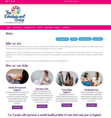 Home   Mental Health Charity   Kaleidoscope Plus Group.png