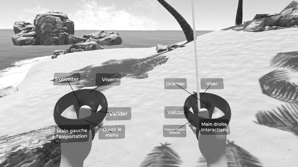 manettes realite virtuelle boutons coref
