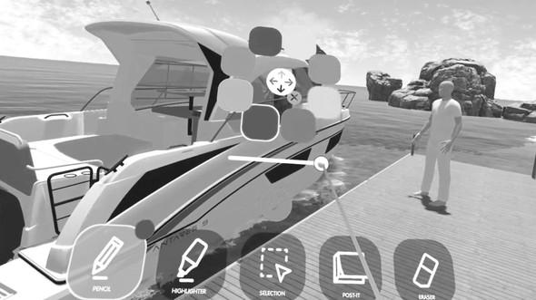 outils digitaux realite virtuelle bateau