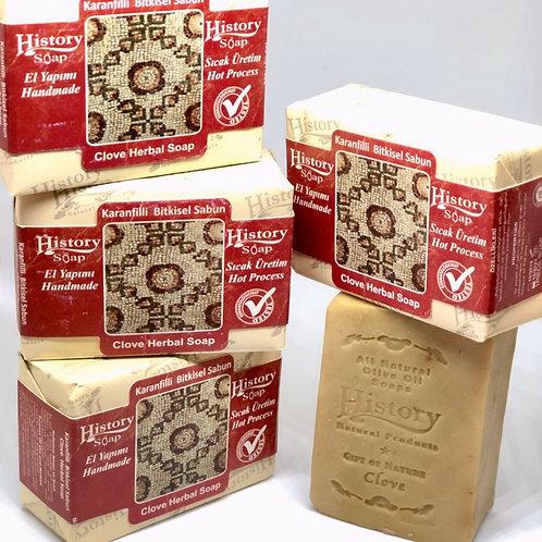 〈 クローブ 〉デオドラント効果 自然派スキンケアソープ 無添加100% トルコからのオイル石鹸  全身使える!