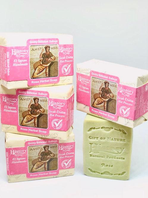 〈 ローズ 〉自然派スキンケアソープ 無添加100% トルコからのオイル石鹸  全身使える!