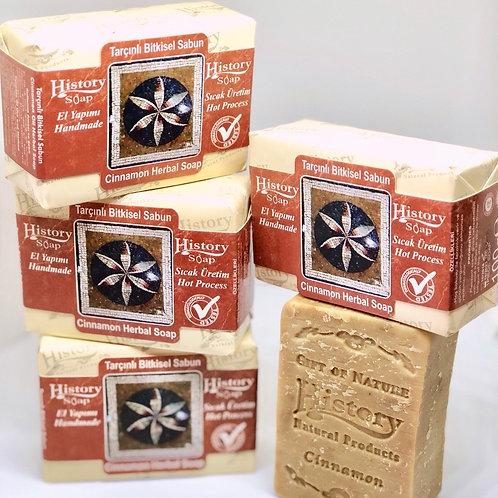 〈 シナモン 〉リラックス効果 自然派スキンケアソープ 無添加100% トルコからのオイル石鹸  全身使える!