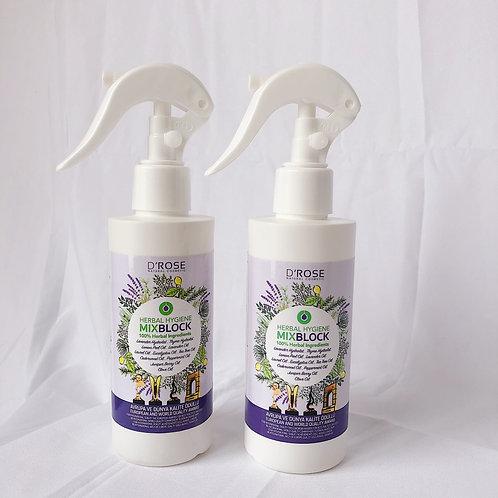 2本 【 トルコ直輸入 】ハーブの力で潤い-除菌-消臭 ノンアルコールスプレー /ミックスブロック