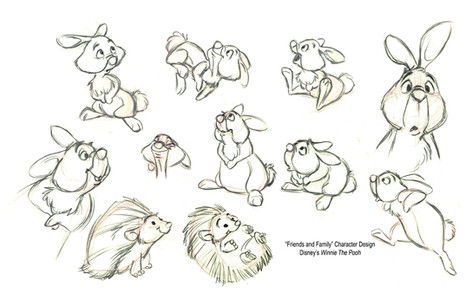 Winne the Pooh -- Rabbit friends and family