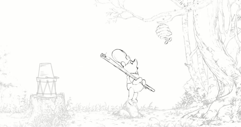 """Winnie the Pooh"" - rough animation"