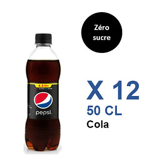 Pepsi  Zéro sucre Cola 50cl x 12