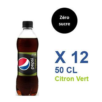 Pepsi Zéro sucre Citron vert 50cl x 12