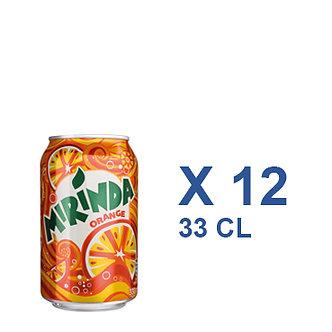Mirinda CAN Orange. Citron. pomme 33cl x 12