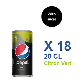 Pepsi Zéro sucre Citron vert 20cl x 18