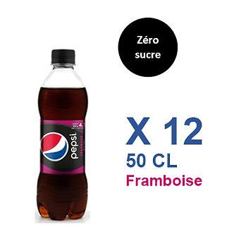Pepsi Zéro sucre Framboise 50cl x 12