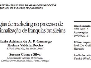 Estratégias de marketing no processo de internacionalização de franquias brasileiras