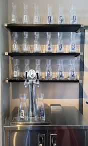 Q water Decanters on display