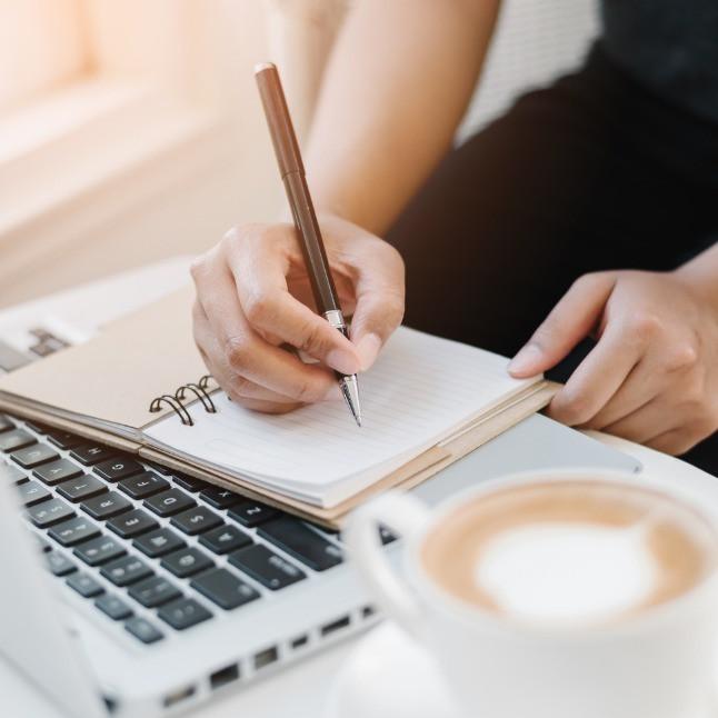 Denver virtual assistant writing a blog post.
