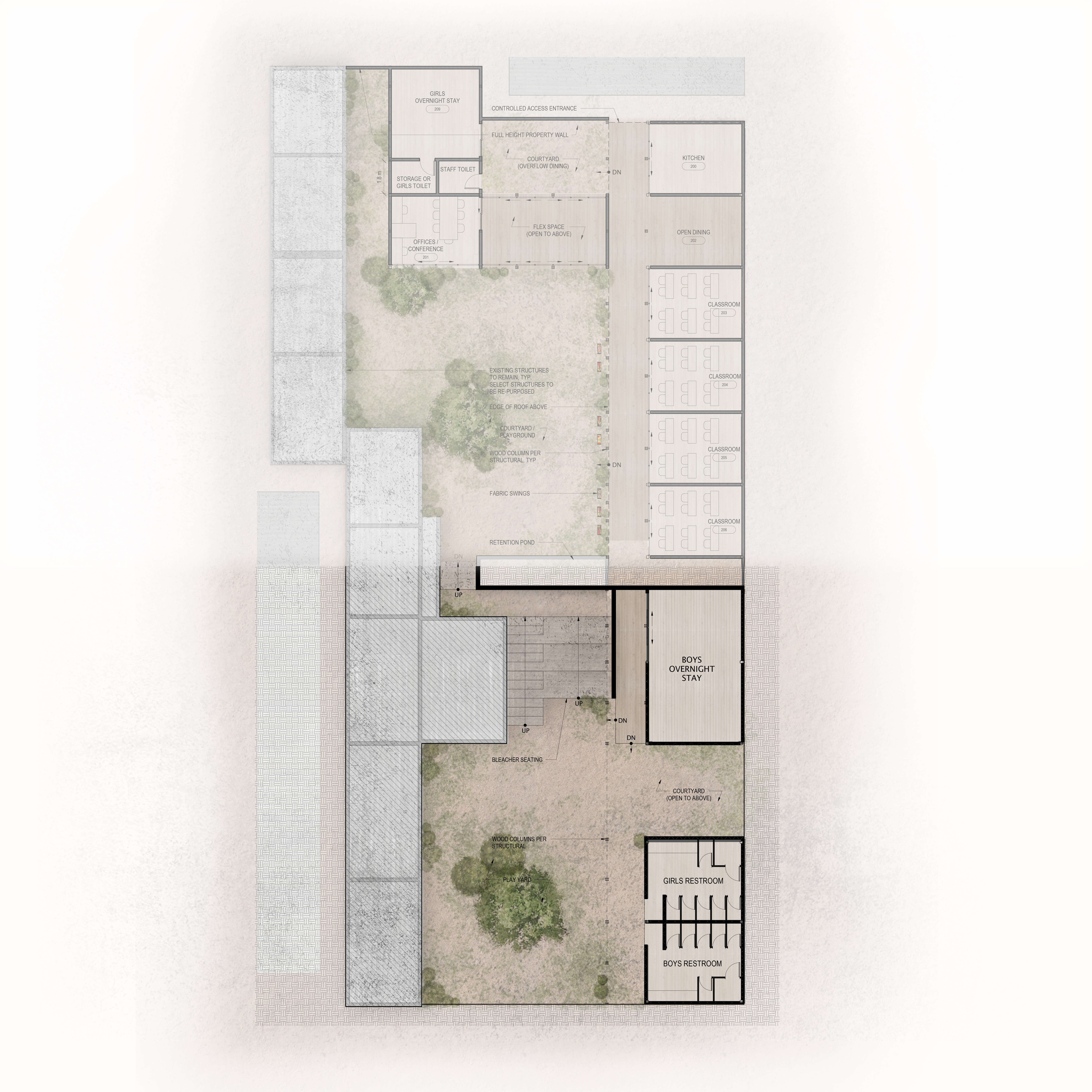 A2.10 Site Plan LOWER LEVEL