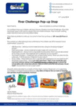 Fiver Challenge - Pop-up Shop Letter - a