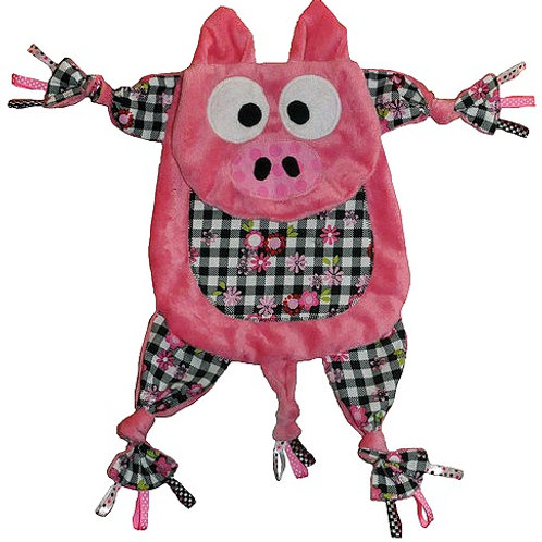 Pink Pig with Checker Tummy (Pig 1)