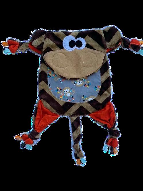 Brown Chevron Monkey with Monkey Tummy (Monkey 19)