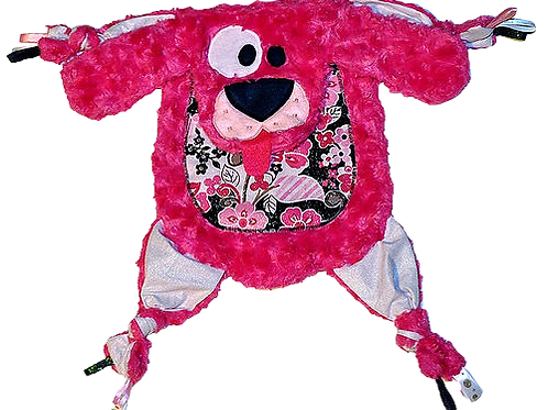 Hot Pink Puppy with Floral Tummy (Puppy 24)