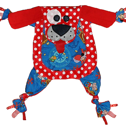 Red Polka Dot Puppy with Pirate Tummy (Puppy 20)