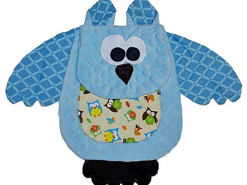 Baby Blue Owl with Green Tummy (Owl 3)