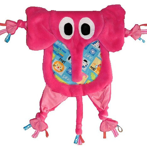 Hot Pink Elephant with Safari Tummy (Elephant 1)