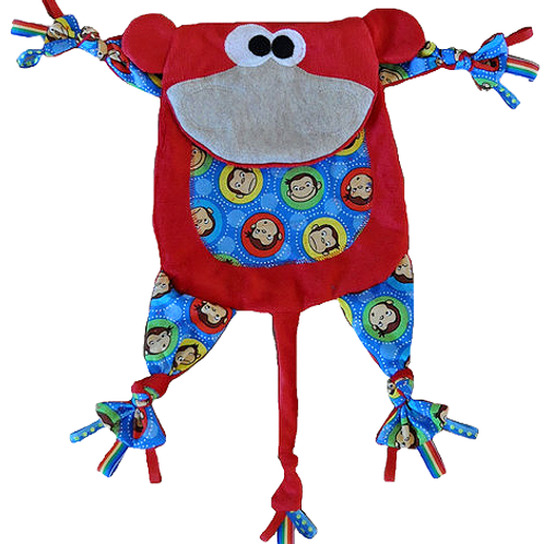 Red Monkey with Curious George Tummy (Monkey 16)