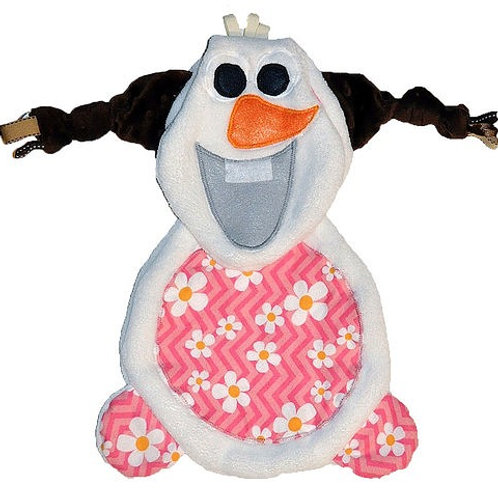 White Snowman with Pink Floral Tummy (Snowman 1)