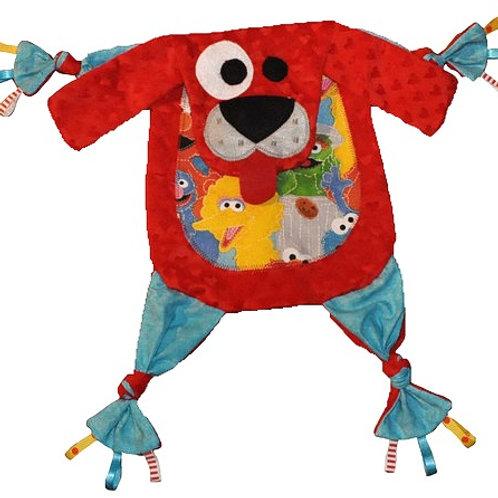 Red Puppy with Sesame Street Tummy (Puppy 11)