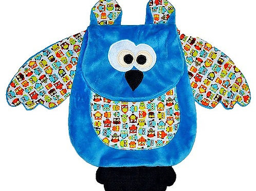 Blue Owl with Owl Tummy (Owl 1)