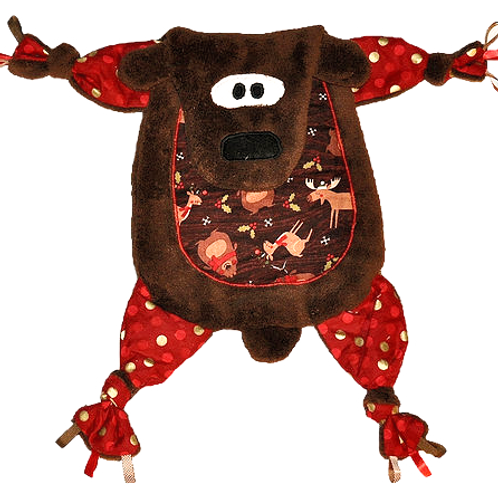 Brown Bear with Christmas Tummy (Bear 3)