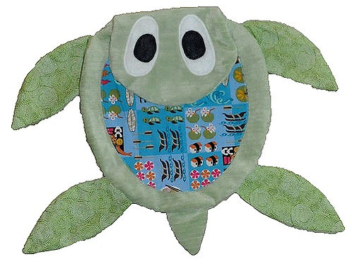 Green Sea Turtle with Ocean Tummy (Turtle 2)