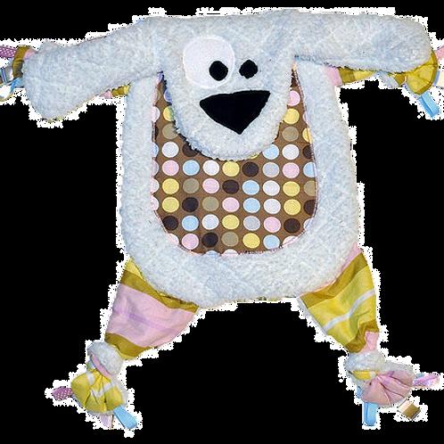 White Puppy with Polka Dot Tummy (Puppy 27)