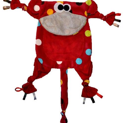 Red Polka Dot Monkey with Red Tummy (Monkey 9)
