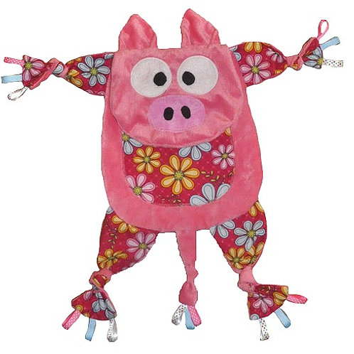 Pink Pig with Floral Tummy (Pig 2)