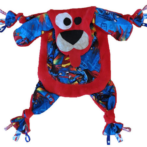 Red Puppy with Superman Tummy (Puppy 12)