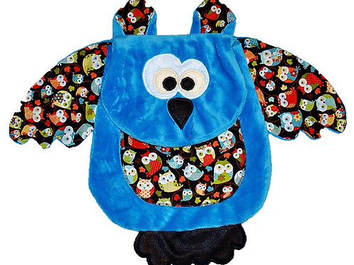 Blue Owl with Owl Character Tummy (Owl 12)