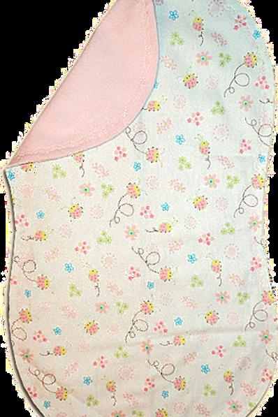 Pink Ladybug Floral Spittie (G42)