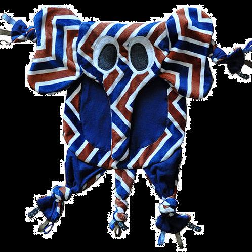 Chevron Elephant with Dark Blue Tummy (Elephant 6)